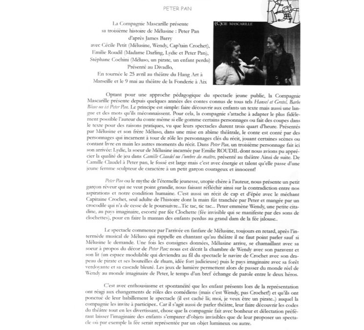 La revue du Théâtre Marseillais